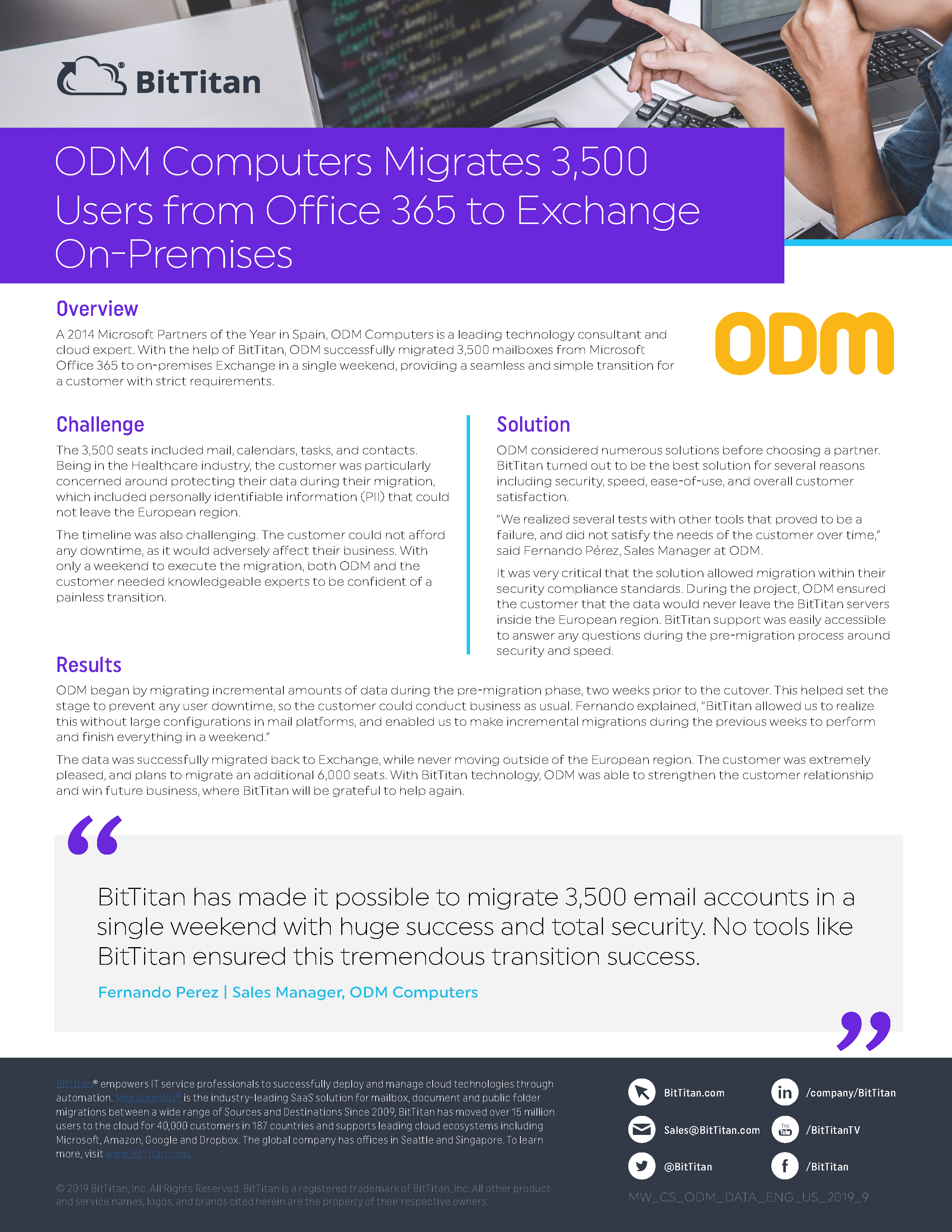 ODM Computers: Migration Case Study