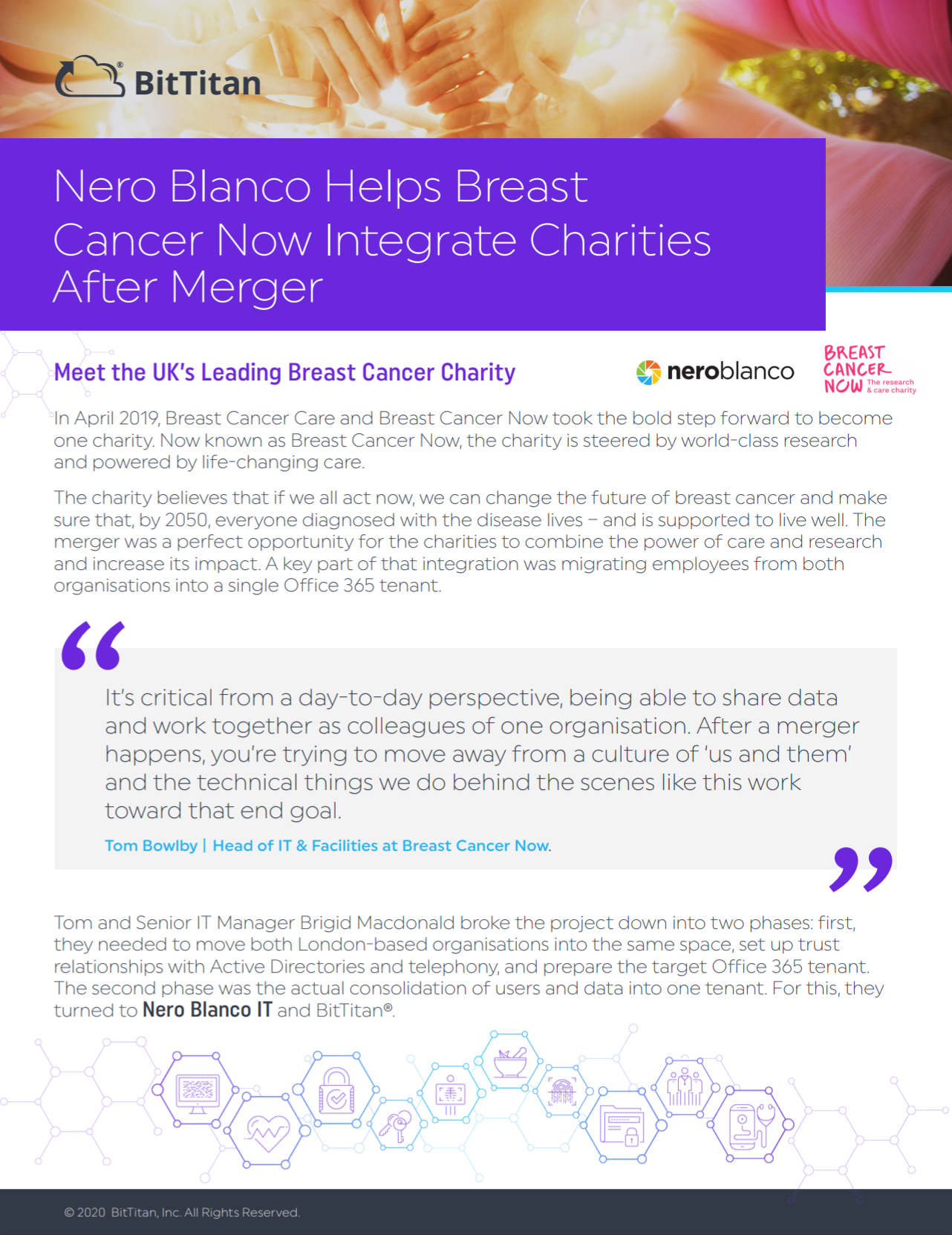 Nero Blanco IT Helps Breast Cancer Now Integrate Charities After Merger