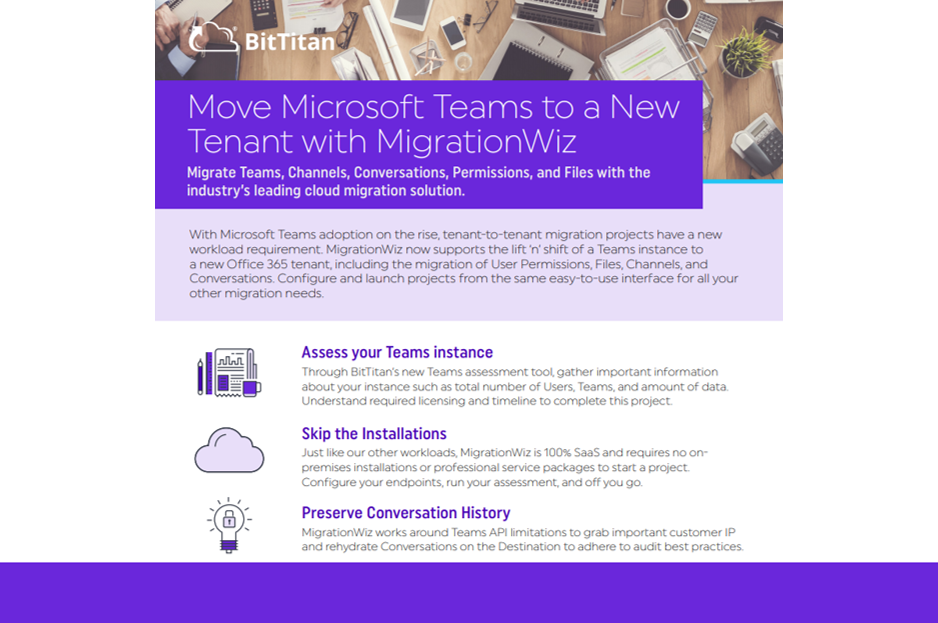 Move Microsoft Teams with MigrationWiz
