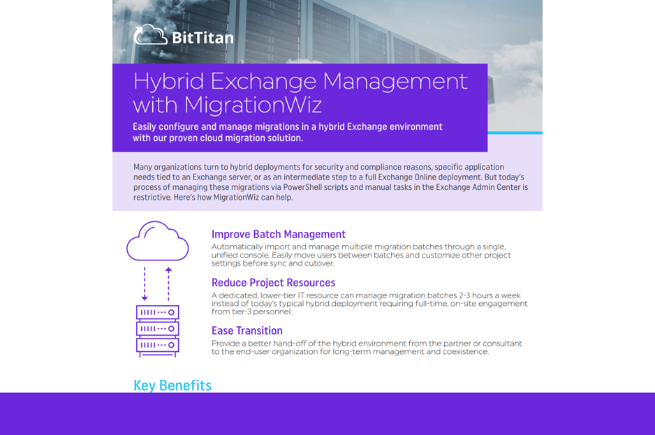 Hybrid Exchange Management with MigrationWiz