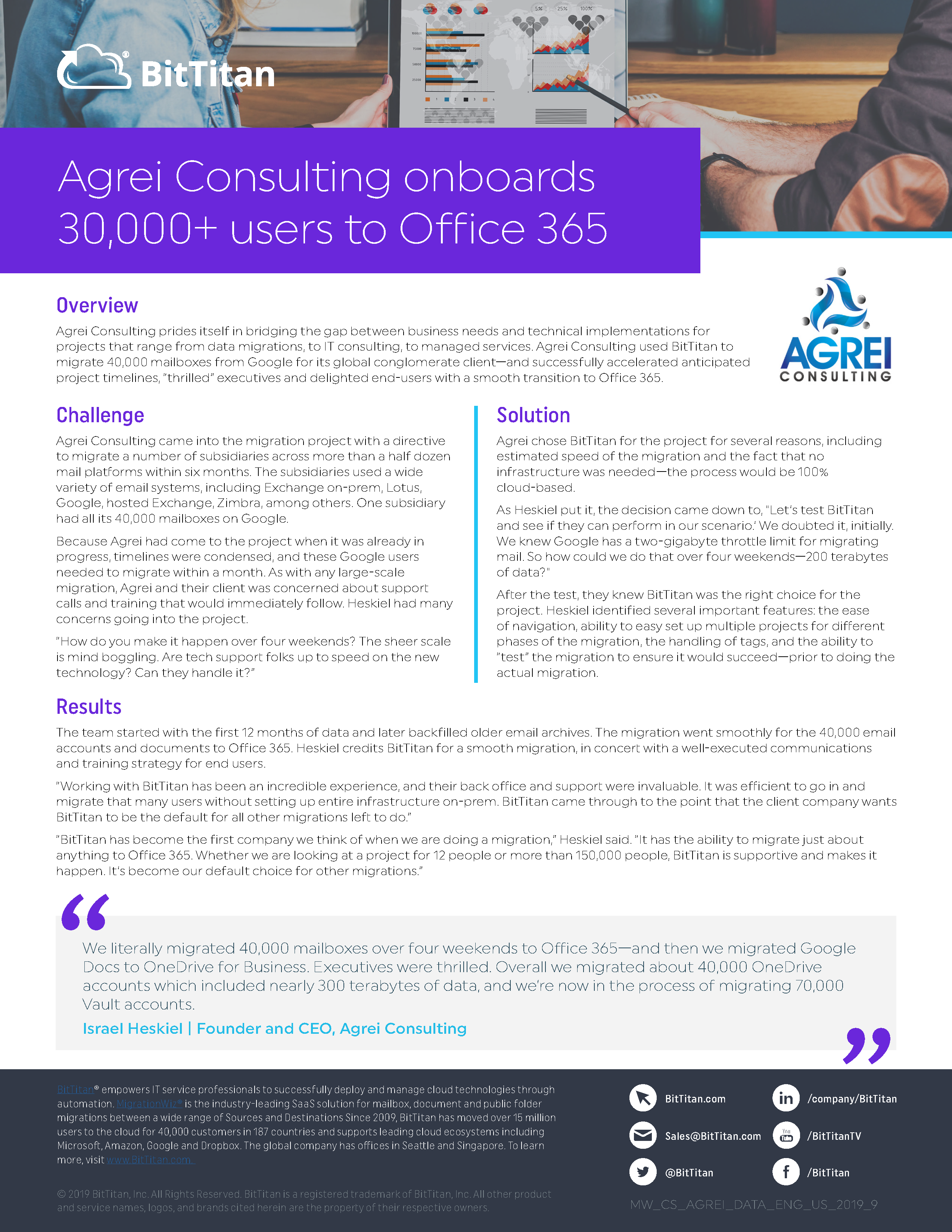 Agrei Consulting: MigrationWiz Case Study